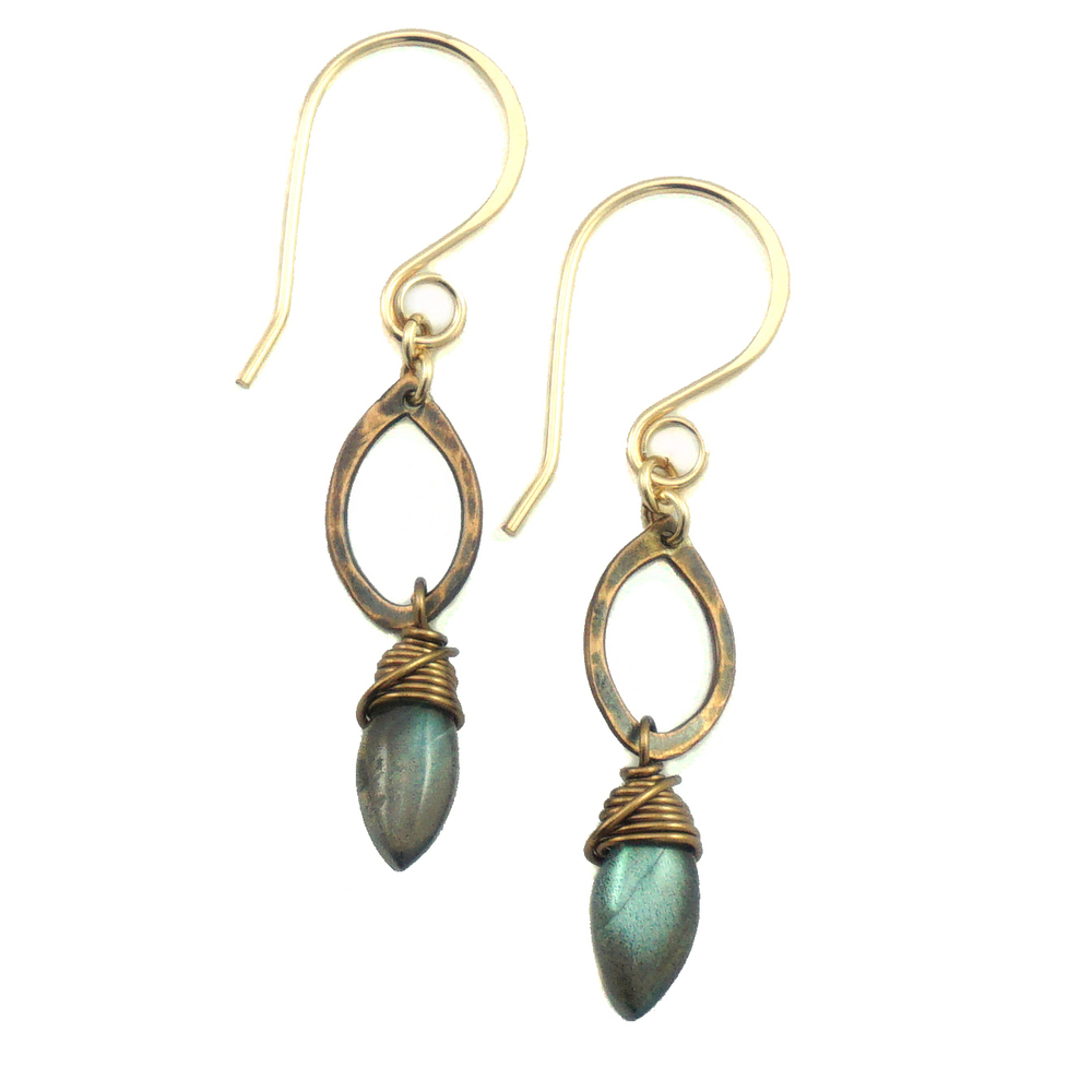 Drop Earrings - Bronze