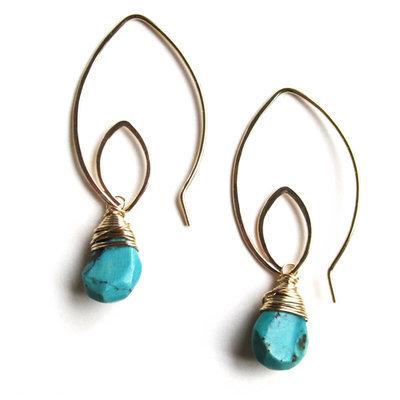 Lotus Earrings - 14K Gold Fill