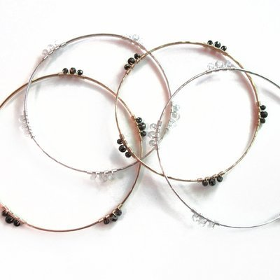 Wrapped in Threes Bangle