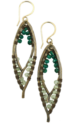 Double Bay Leaf Wrapped Earring