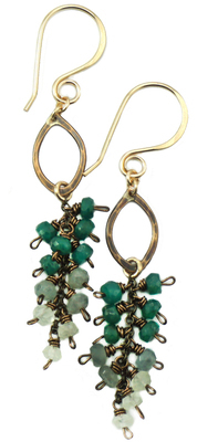 Drop Cluster Earring - Bronze