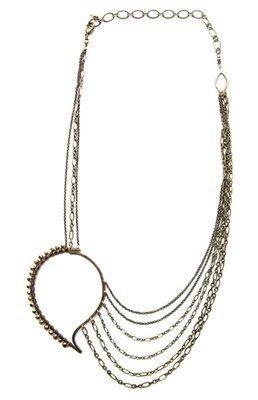Paisley Chain Necklace - Bronze