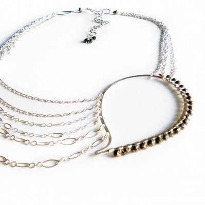 Paisley Chain Necklace - Silver