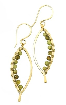 Bay Leaf Earring Wrapped SM