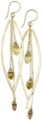 Bay Leaf Dangle Earring LG