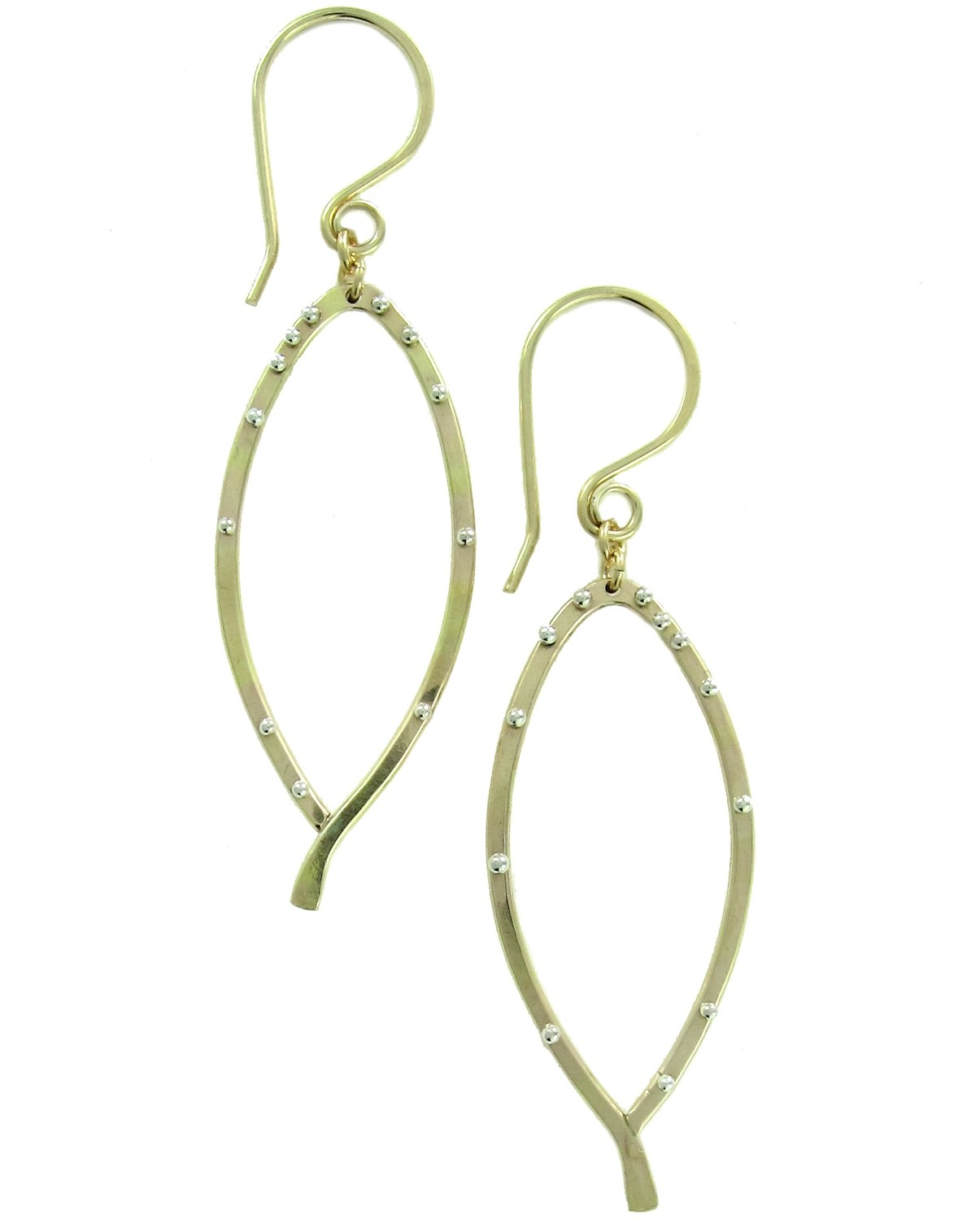 Bay Leaf Earring Studded Small