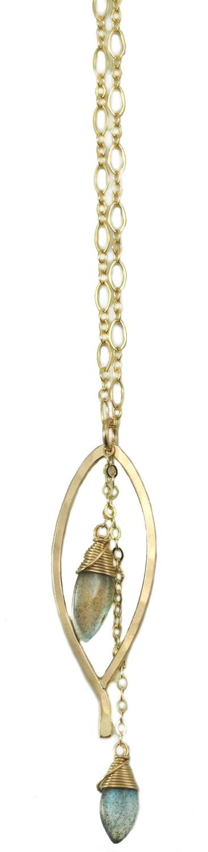 Bay Leaf Dangle Necklace - YGF