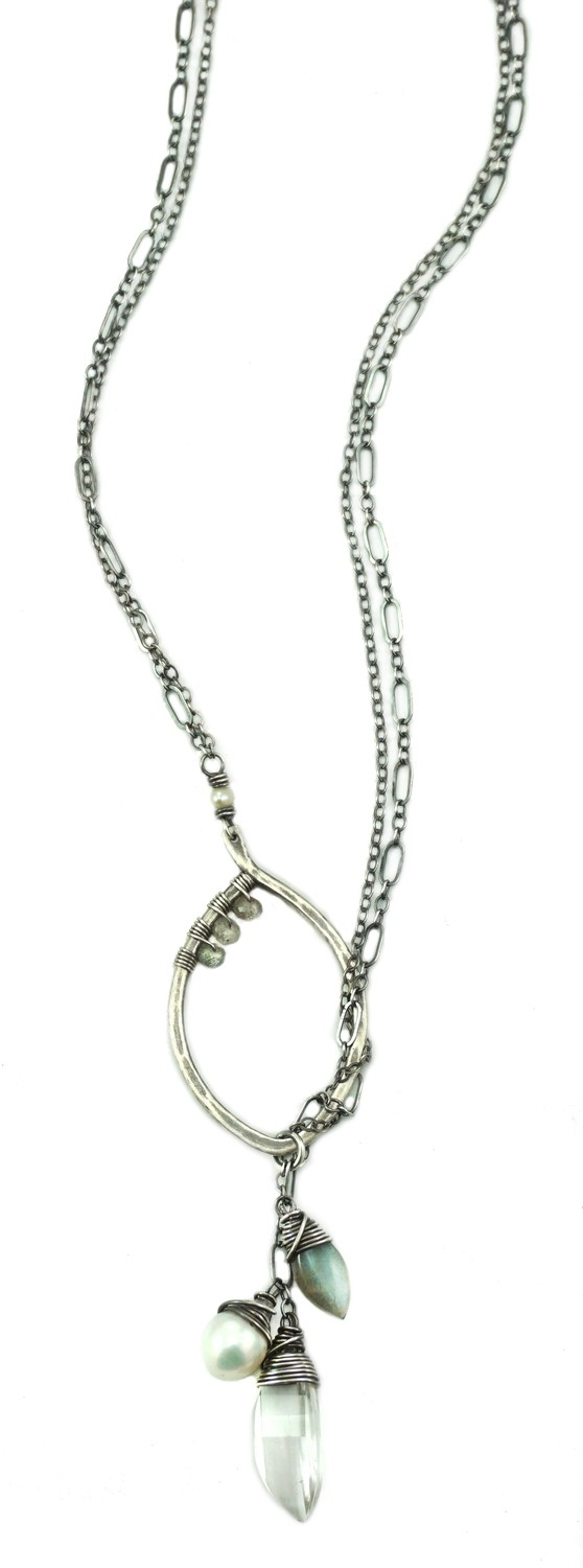Leaf Lariat Small - Silver