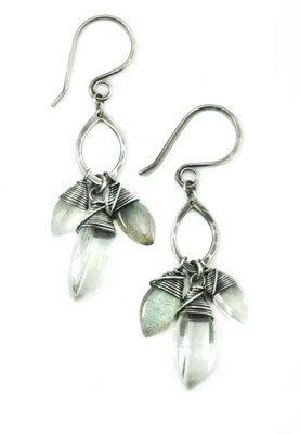 Drop Marquise Earring - Silver