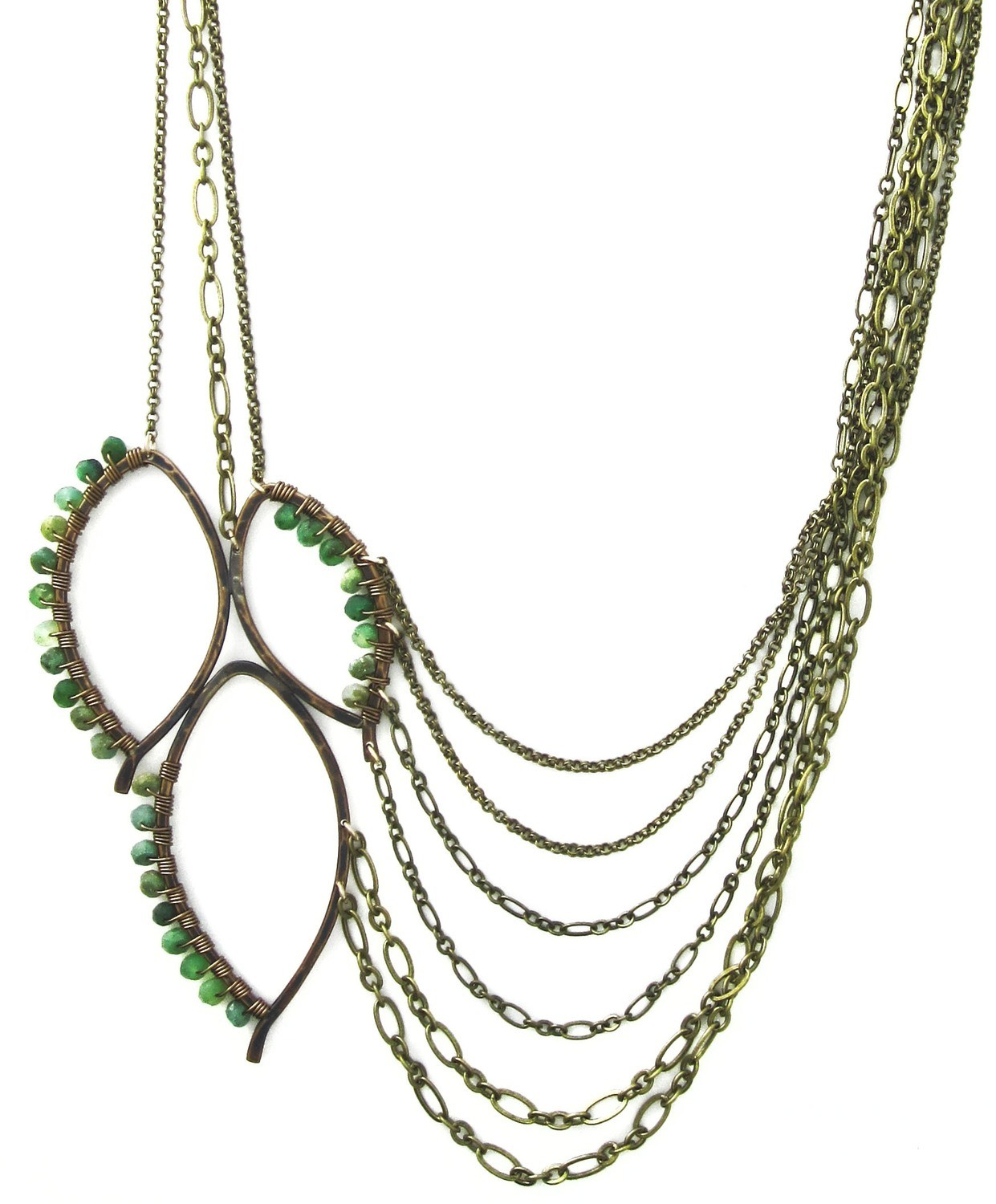 Three Leaf Chain Necklace