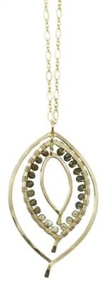 Triple Leaf Wrapped Necklace SM
