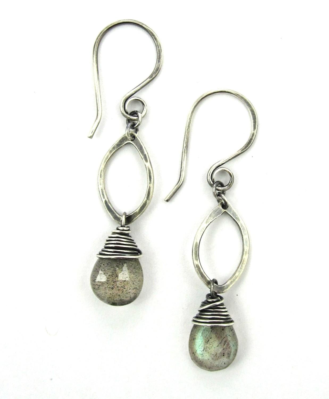 Drop Earrings - Silver