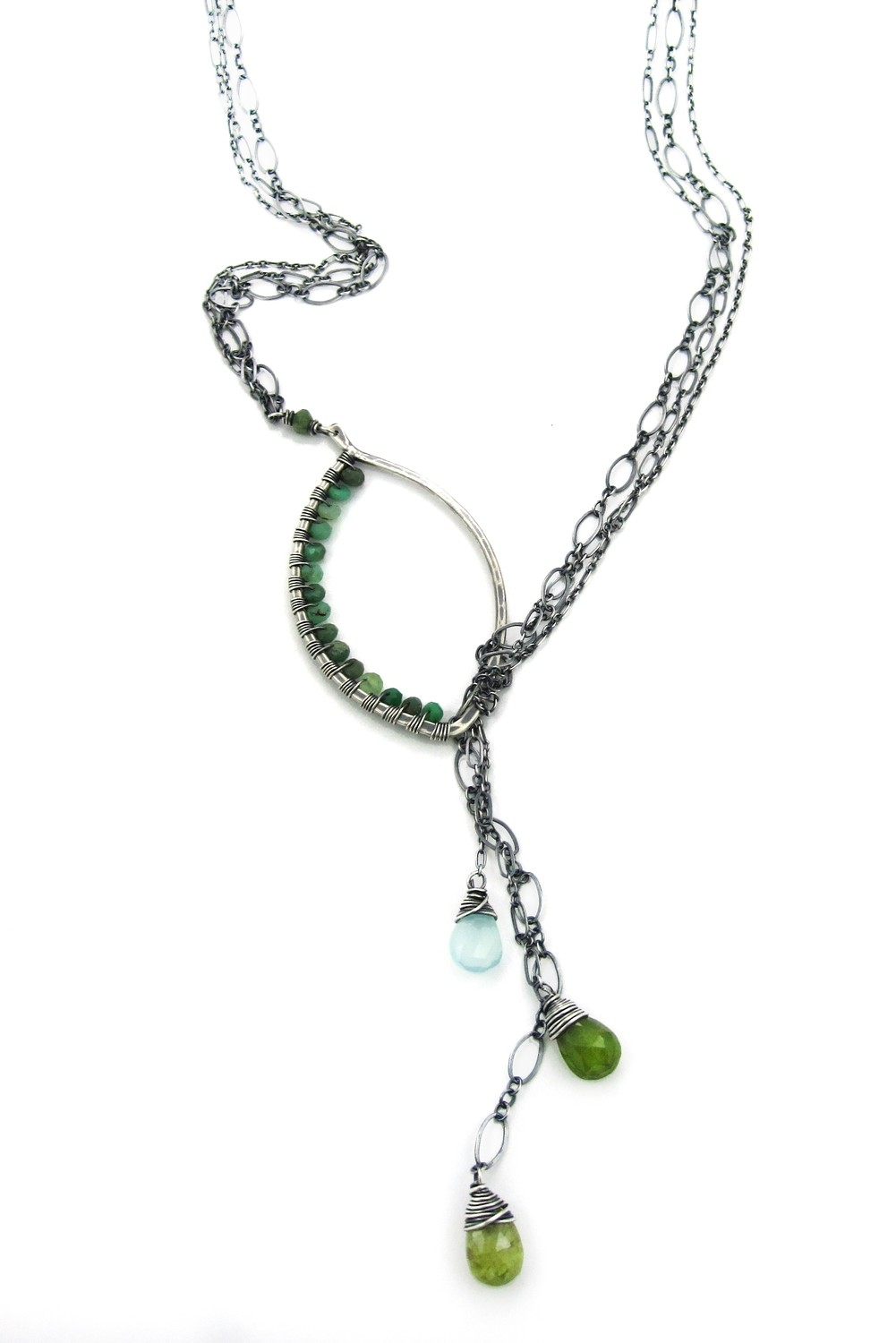 Lariat Necklace - Silver