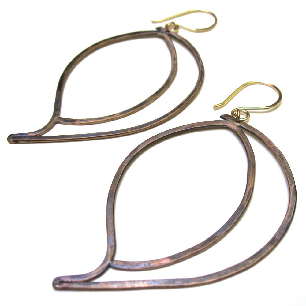 Leaf Earrings - Bronze