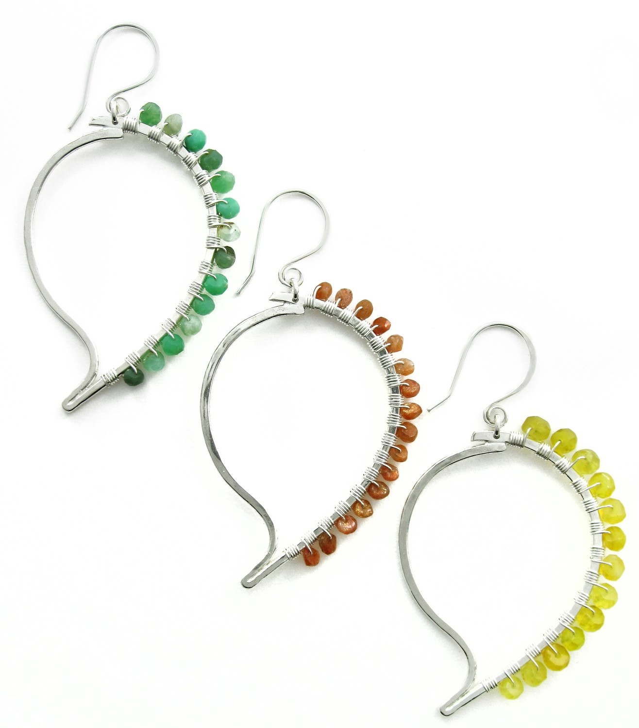 Paisley Earrings - Silver