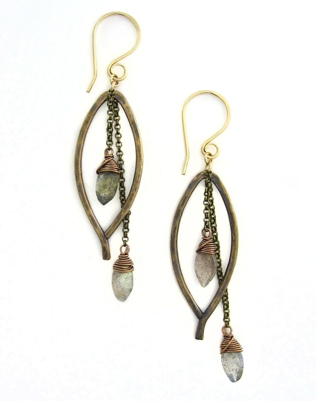 Bay Leaf Dangle SMALL Earring