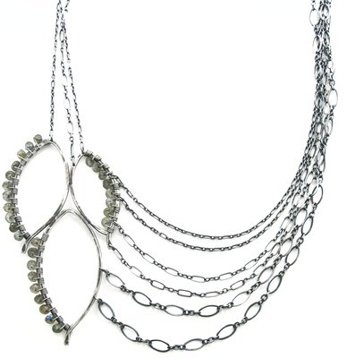 Three Leaf Chain Necklace - Wrapped