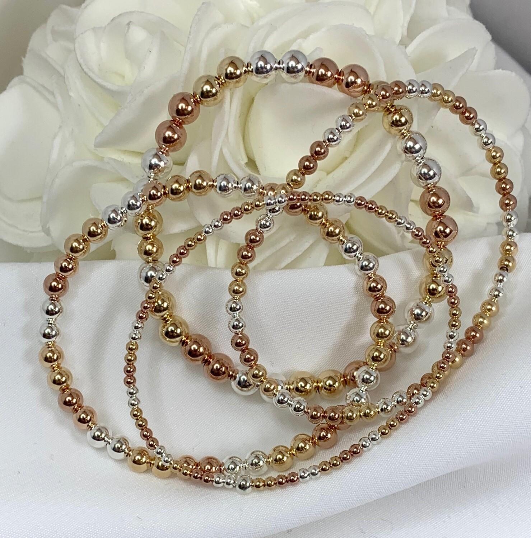 Tri Color Beaded Bracelet