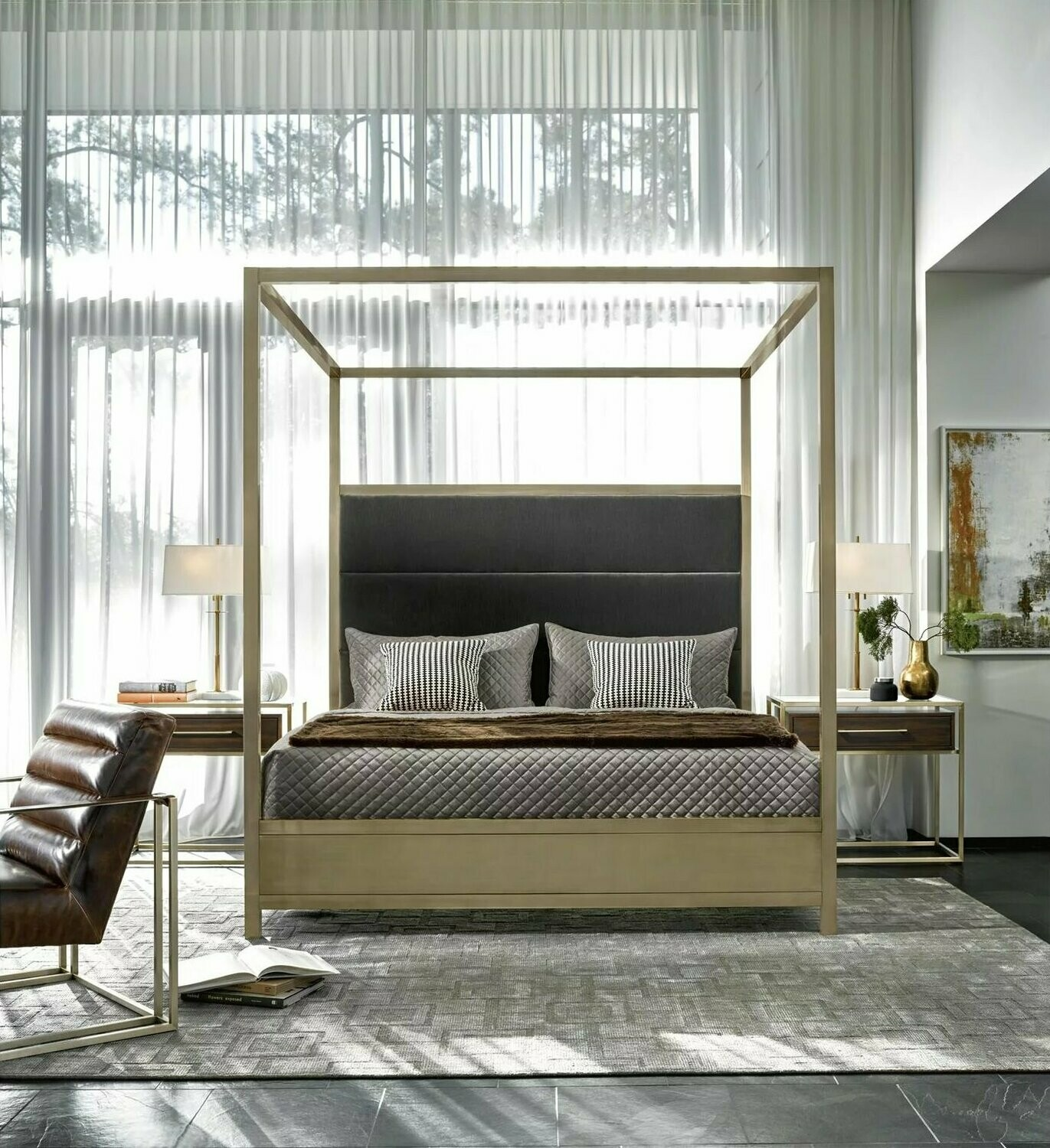 - HARLOW KING CANOPY BED