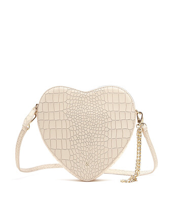 Bell & Fox AMOUR Heart Crossbody / Wristlet Clutch Bag - Croc Powder