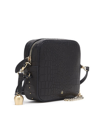 Bell & Fox MARLO square Bag - Croc Black