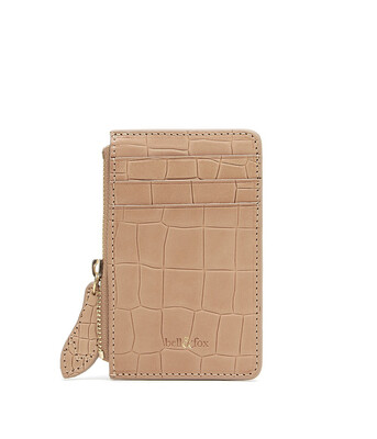 Bell & Fox LIA credit Card Purse - Croc Camel