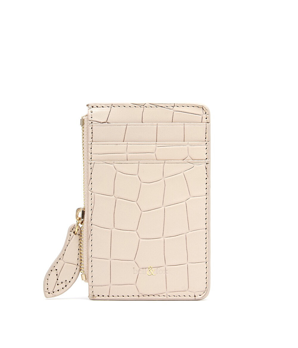 Bell & Fox LIA credit Card Purse - Croc Powder