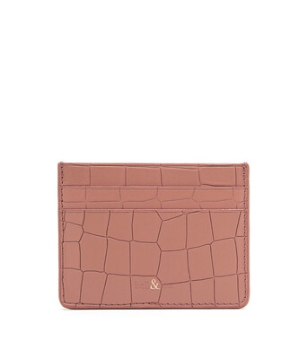 Bell & Fox RUMI Card Holder - Croc Terracotta