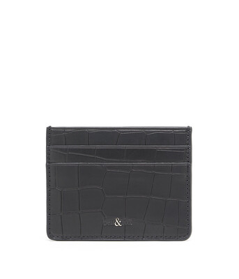 Bell & Fox RUMI Card Holder - Croc Black