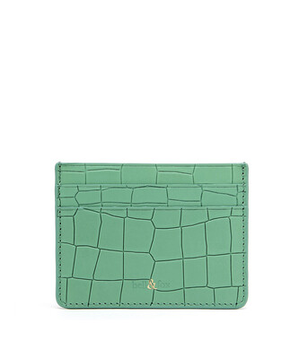 Bell & Fox RUMI Card Holder - Croc Mint