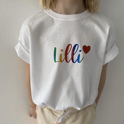 Rainbow T Shirt Kids