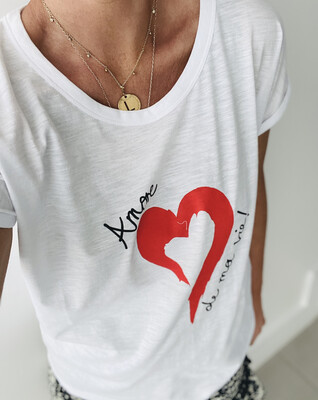 Amore De Ma Vie Tee - White