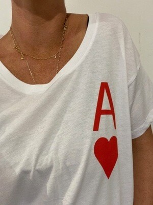 Ace Of Hearts Tee - White