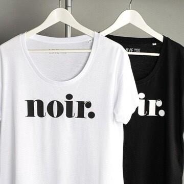 Noir Relaxed Scoop Neck Tee - White