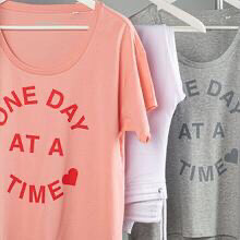 One Day At A Time Tee - Pink
