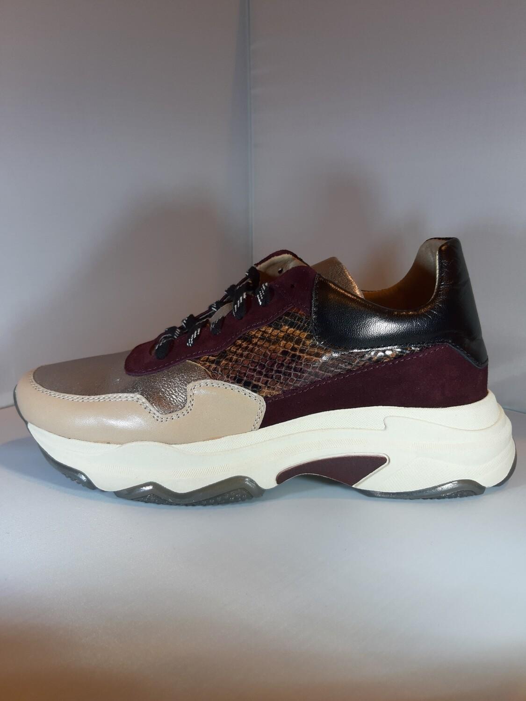 Fil   Sneaker bordeaux en goud