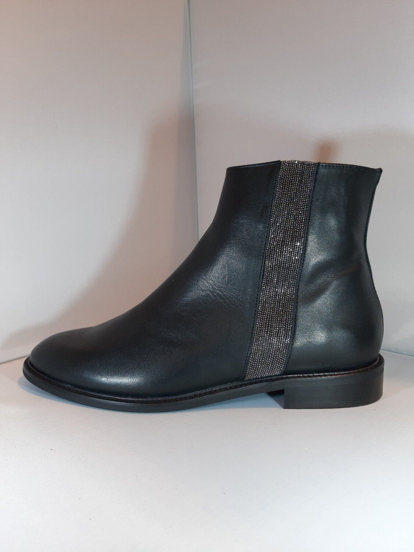 Catwalk | Platte boot zwart leder