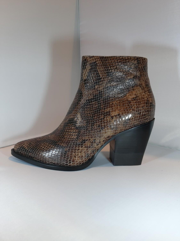 Lola Cruz | Cowboy boot serpent bruin
