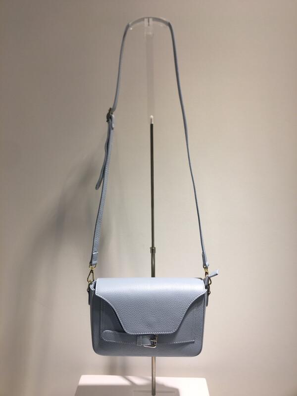 Mondieux Madame Crossbody Bag Lichtblauw Leder