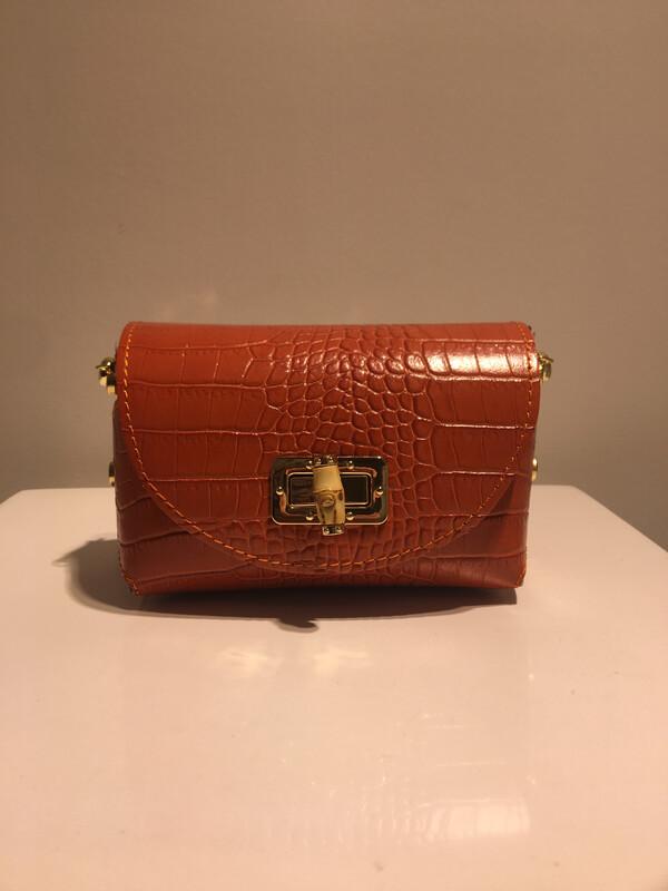 Mondieux Madame Hermes Oranje Python Leder
