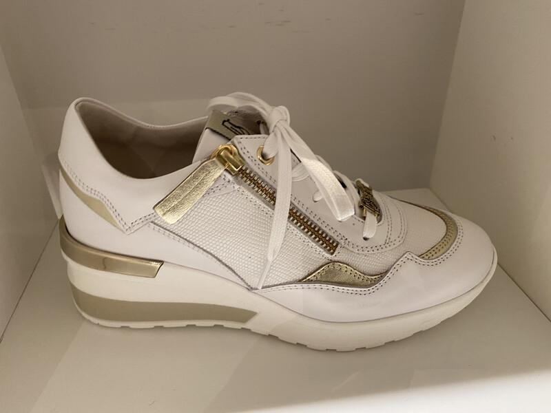 DL Sport / sneaker wit opgehoogd gouden detail