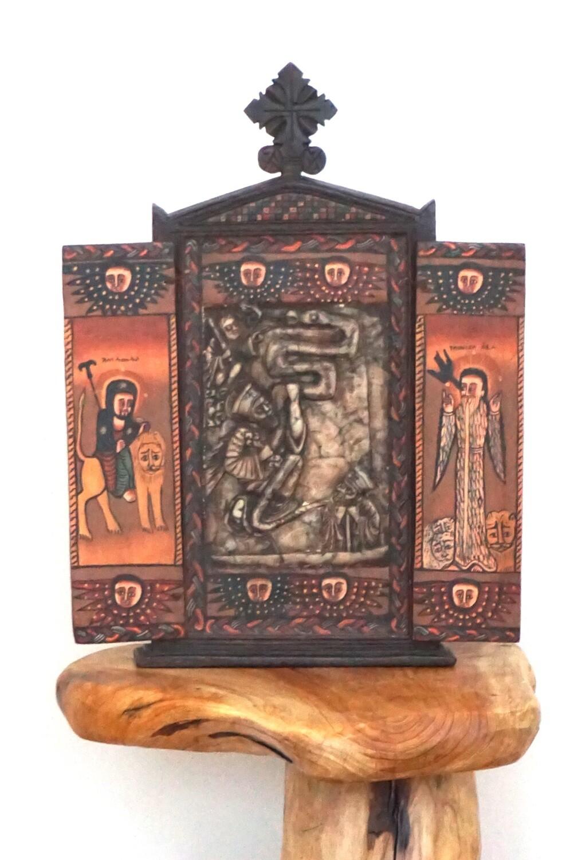 Ethiopian Icon Abuna Aregawi| Coptic Orthodox Icon| Religious Christianity Storyteller