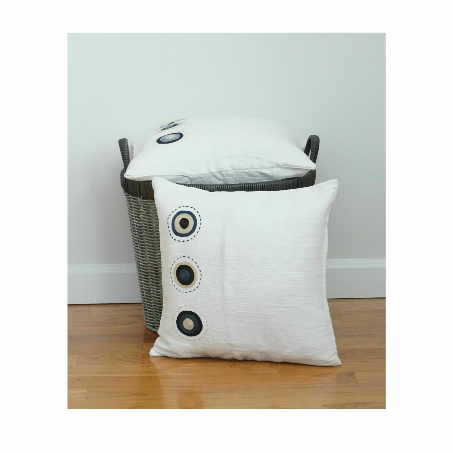 Accent Throw Pillow For Sofa, Bed Made of Cotton