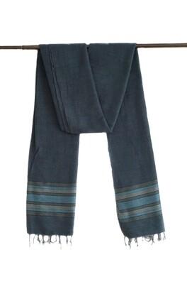 Handmade Women Oversized Scarf Shawl Wrap| Dark Blue Solid| Made Of 100% Organic Cotton