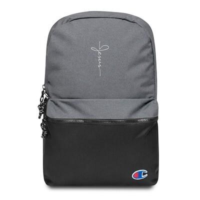 Jesus logo embroidered Champion backpack
