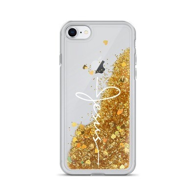Liquid Glitter Phone Case with Jesus logo