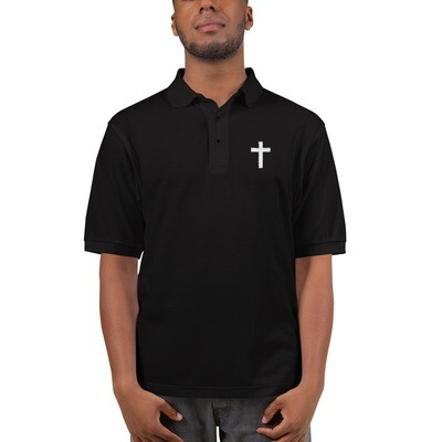 Men's Embroidered Premium Polo with cross