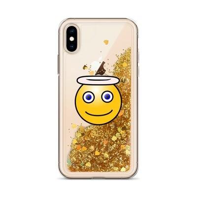 Liquid Glitter Angel emoji IPhone Case