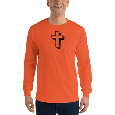 Long Sleeve Cross design T-Shirt
