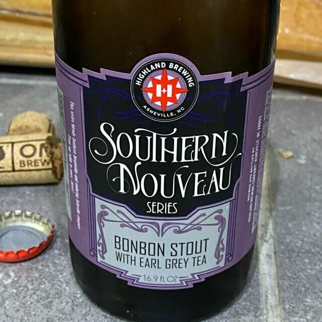 Highland Southern Nouveau: Barrel-Aged Chocolate Bon Bon Stout with Earl Grey (32oz Crowler)